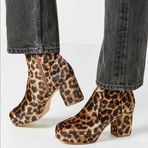 Leopard platform boots from urban outfitters